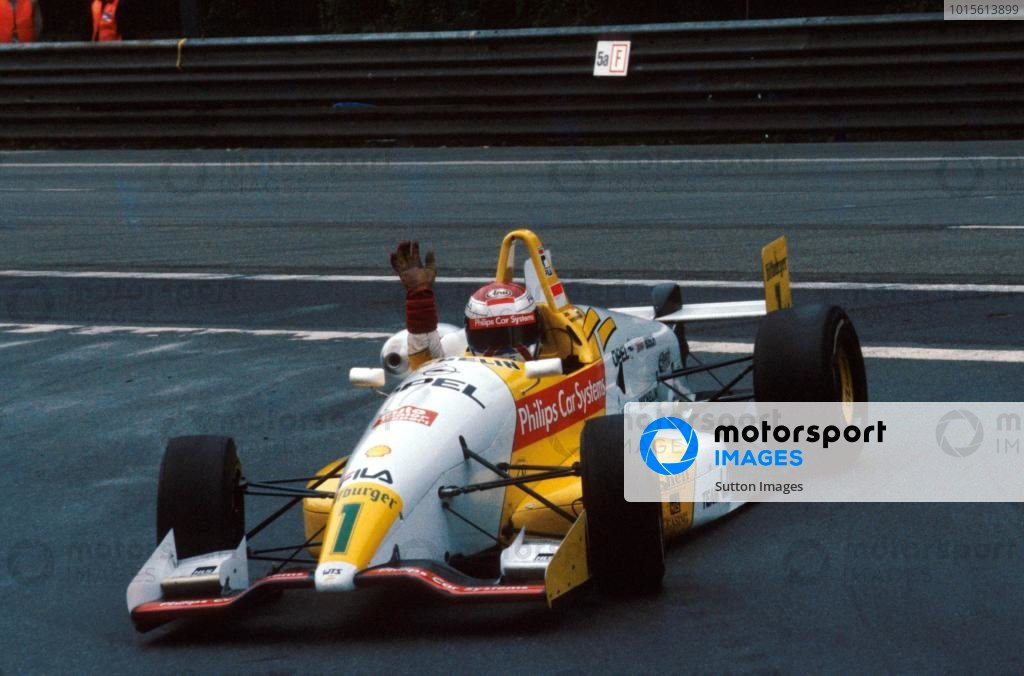 Race winner Jos Verstappen (NED) Dallara 393-Opel was a convincing series champion.