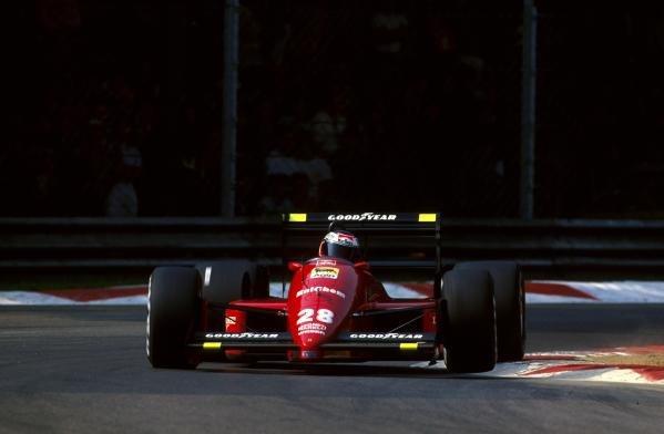 Gerhard Berger (AUT) Ferrari F1 87/88C, 1st place. Italian Grand Prix, Monza, 11 September 1988