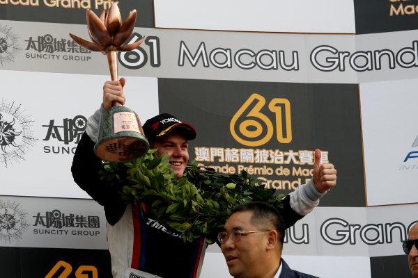 2014 Macau Formula 3 Grand Prix Circuit de Guia, Macau, China 12th - 16th November 2014 Nick Cassidy (NZL) Three Bond with T-Sport Dallara F314 NBE World Copyright: XPB Images / LAT Photographic  ref: Digital Image 3391388_HiRes