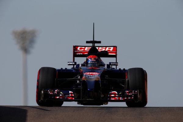Yas Marina Circuit, Abu Dhabi, United Arab Emirates. Wednesday 26 November 2014. Max Verstappen, Toro Rosso STR9 Renault.  World Copyright: Glenn Dunbar/LAT Photographic. ref: Digital Image _89P0034