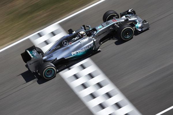 Circuit de Catalunya, Barcelona, Spain. Friday 9 May 2014. Lewis Hamilton, Mercedes F1 W05 Hybrid. World Copyright: Steve EtheringtonLAT Photographic. ref: Digital Image SNE13547 copy