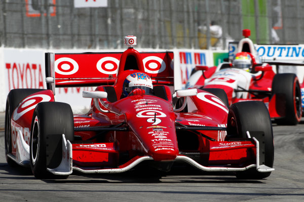11-13 April, 2014, Long Beach, California USA Scott Dixon leads Justin Wilson ©2014, Phillip Abbott LAT Photo USA