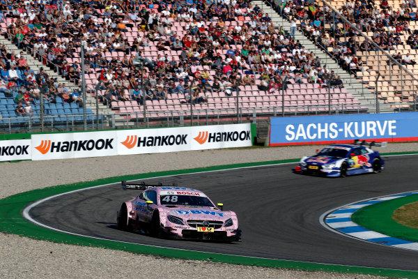 2017 DTM Round 9  Hockenheimring, Germany  Sunday 15 October 2017. Edoardo Mortara, Mercedes-AMG Team HWA, Mercedes-AMG C63 DTM  World Copyright: Alexander Trienitz/LAT Images ref: Digital Image 2017-DTM-HH2-AT2-1642