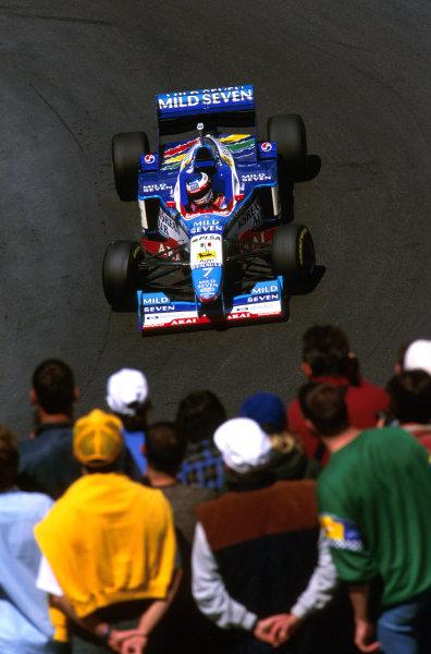 Monte Carlo, Monaco.8-11 May 1997.Jean Alesi (Benetton B197 Renault). He spun and stalled on lap 16.Ref-97 MON 15.World Copyright - LAT Photographic
