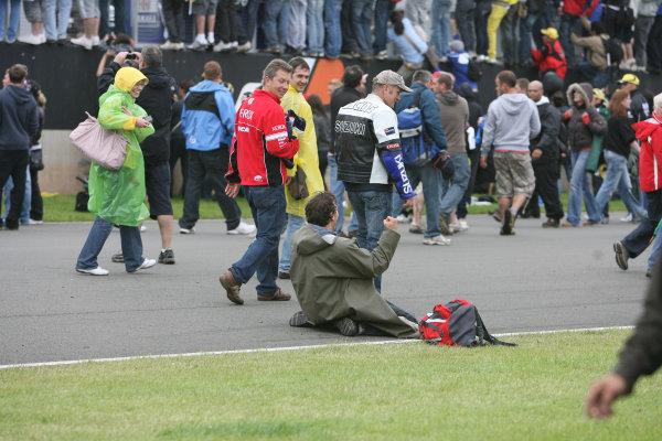 Donington Park, Nottingham, United Kingdom.24th - 26th  July 2009Track invasion after the MotoGP race.World Copyright: Martin Heath/LAT Photographicref: Digital Image BPI_Moto 93rm