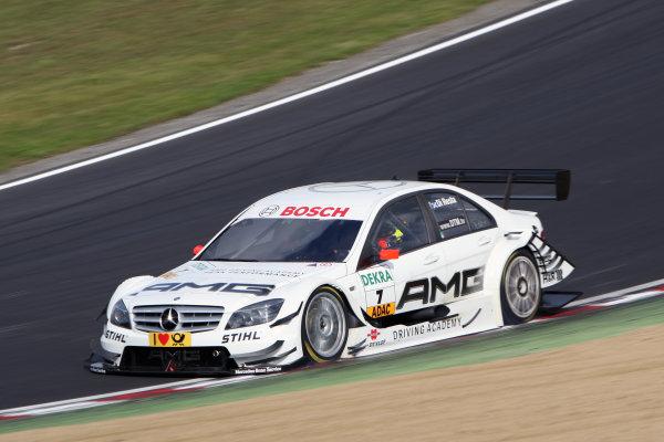 Paul Di Resta (GBR), AMG Mercedes, AMG Mercedes C-Klasse (2009) takes pole position.DTM, Rd7, Brands Hatch, England, 3-5 September 2010.World Copyright: LAT Photographicref: dne1004se245