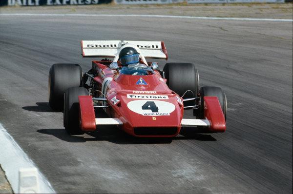Silverstone, England. 15-17th July 1971.  Jacky Ickx, Ferrari 312B2.  Ref: 71GB14. World Copyright: LAT Photographic