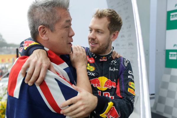 Interlagos, Sao Paulo, Brazil. Sunday 24rd November 2013.  Sebastian Vettel, Red Bull Racing.  World Copyright: Andy Hone/LAT Photographic. ref: Digital Image _ONZ5117
