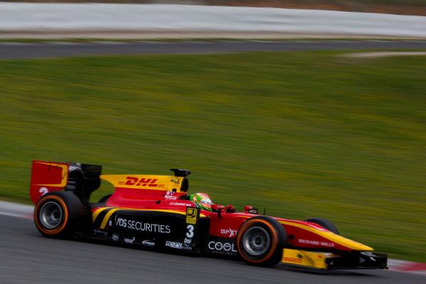 Circuit de Barcelona Catalunya, Barcelona, Spain. Monday 13 March 2017. Louis Deletraz (SUI, Racing Engineering). Action.  Photo: Alastair Staley/FIA Formula 2 ref: Digital Image 580A9460