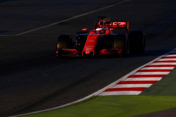 Circuit de Barcelona Catalunya, Barcelona, Spain. Thursday 02 March 2017. Kimi Raikkonen, Ferrari SF70H. World Copyright: Zak Mauger/LAT Images ref: Digital Image _L0U3544