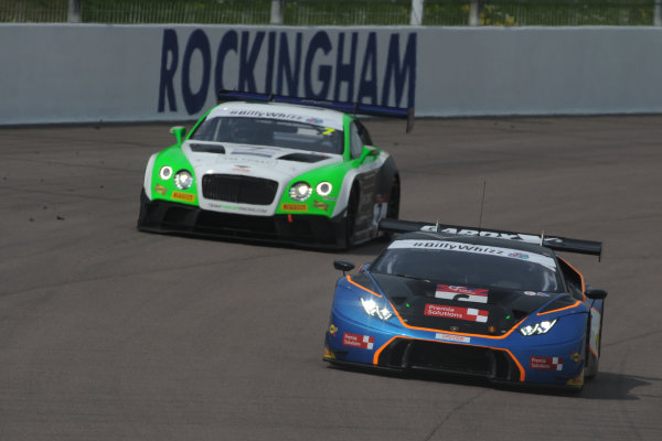 2017 British GT Championship Rockingham, England. 29th-30th April 2017, Liam Griffin / Sam Tordoff Barwell Motorsport Lamborghini Hurracan GT3  World copyright. JEP/LAT Images