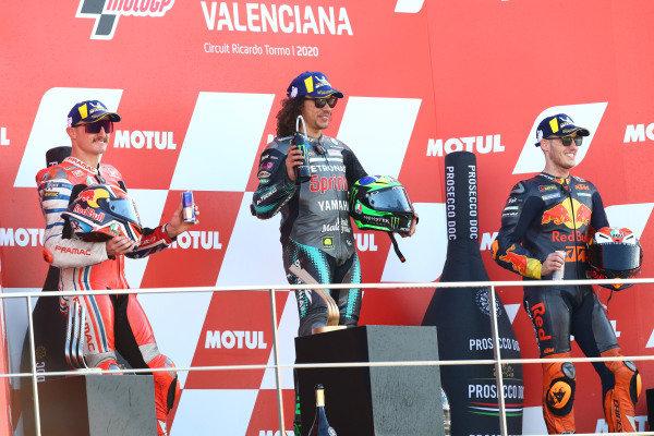Jack Miller, Pramac Racing, Franco Morbidelli, Petronas Yamaha SRT, Pol Espargaro, Red Bull KTM Factory Racing.