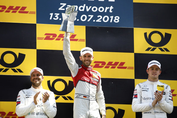 Podium: Race winner René Rast, Audi Sport Team Rosberg, second place Gary Paffett, Mercedes-AMG Team HWA, third place Paul Di Resta, Mercedes-AMG Team HWA.