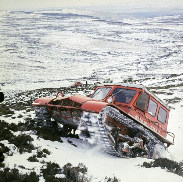 Snow-Trac in snow, Perth, Scotland.