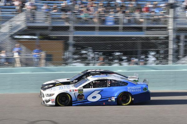 #6: Ryan Newman, Roush Fenway Racing, Ford Mustang Wyndham Rewards, #66: Timmy Hill, Motorsports Business Management, Toyota Camry Generex Generators