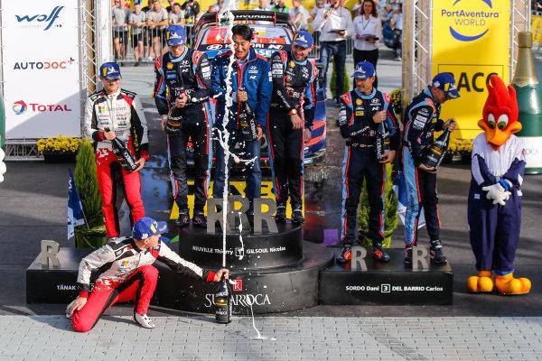 Thierry Neuville (BEL), Nicolas Gilsoul (BEL), Hyundai World Rally Team, Hyundai i20 Coupe WRC 2019, Ott Tänak (EST), Toyota Gazoo Racing WRT, Toyota Yaris WRC 2019