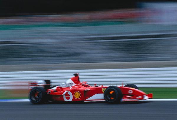 2002 German Grand Prix.Hockenheim, Germany. 26-28 July 2002.Michael Schumacher (Ferrari F2002) 1st position.Ref-02 GER 28.World Copyright - LAT Photographic