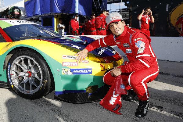 Motul Pole Award winner #13 Via Italia Racing Ferrari 488 GT3, GTD: Marcos Gomes