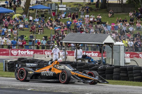 #5: Pato O'Ward, Arrow McLaren SP Chevrolet and #10: Felix Rosenqvist, Chip Ganassi Racing Honda