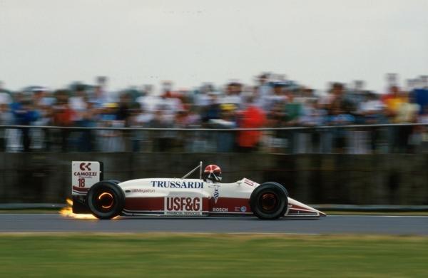 Eddie Cheever (USA) Arrows A10, DNF. British GP, Silverstone, 12th July 1987