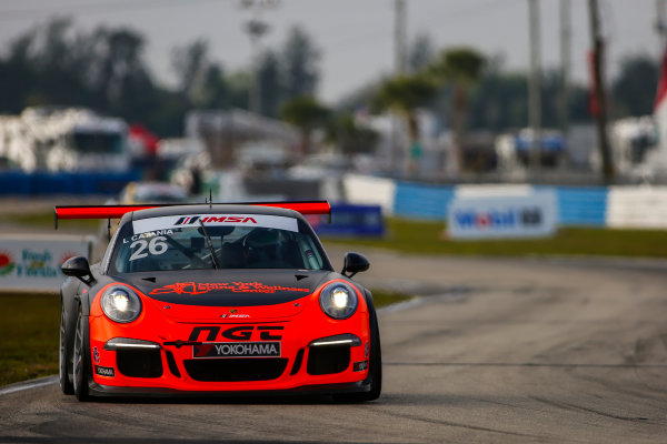 16-18 March, 2016, Sebring, Florida, USA 26, Lucas Catania, Platinum, 2014  Porsche ?2016, Jake Galstad LAT Photo USA