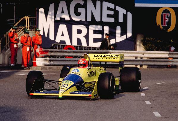 1989 Monaco Grand Prix.Monte Carlo, Monaco.4-7 May 1989.Pierre-Henri Raphanel (Coloni FC188B Ford).Ref-89 MON 49.World Copyright - LAT Photographic