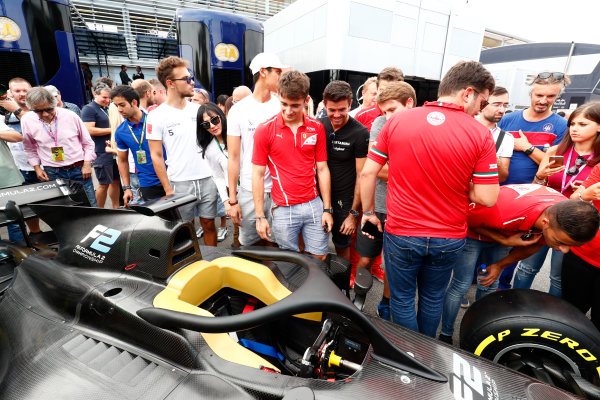 Autodromo Nazionale di Monza, Italy. Thursday 31 August 2017 The new 2018 F2 car is unveiled in the paddock. Photo: Sam Bloxham/FIA Formula 2 ref: Digital Image _W6I2070