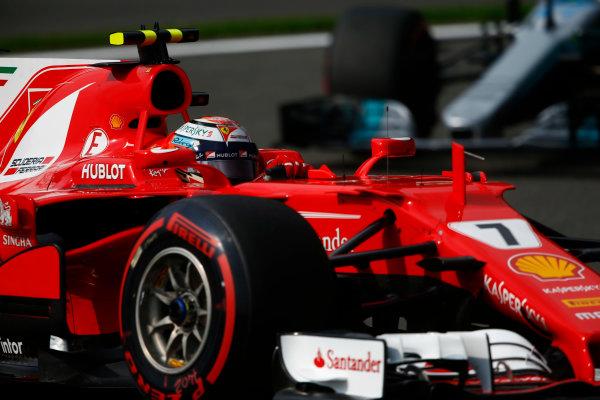 Spa Francorchamps, Belgium.  Saturday 26 August 2017. Kimi Raikkonen, Ferrari SF70H.  World Copyright: Andy Hone/LAT Images  ref: Digital Image _ONZ9804