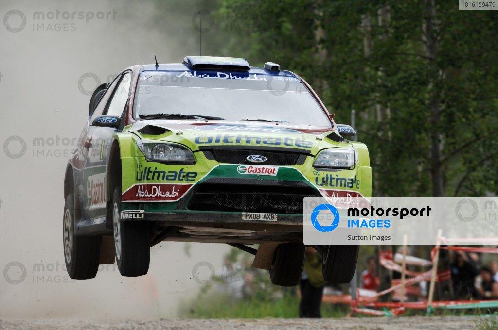 FIA World Rally Championship, Rd 8.June 25 - 28, 2009Rally Poland, Mikolajki, Poland.Day 1, Friday June 26, 2009.Mikko Hirvonen (FIN) on stage 7.DIGITAL IMAGE