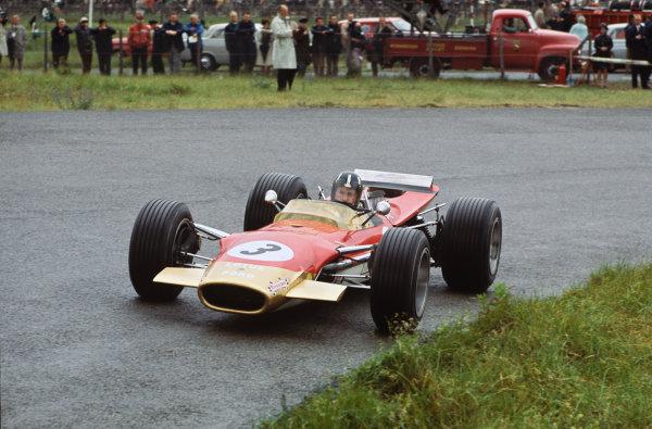 Zandvoort, Holland. 21-23 June 1968.  Graham Hill (Lotus 49B Ford).  Ref: 68HOL01. World Copyright: LAT Photographic