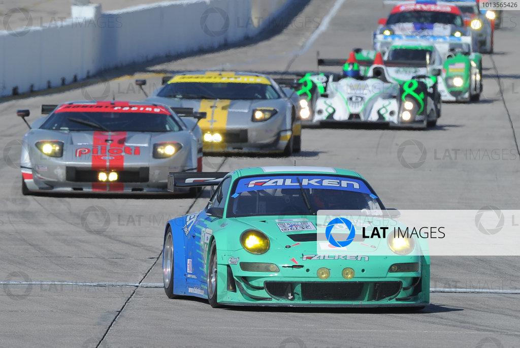 14-19 March 2011. Sebring, Florida USA#017 Falken Tire Porsche 911 GT3 RSR©2011 Dan R. Boyd LAT Photo USA
