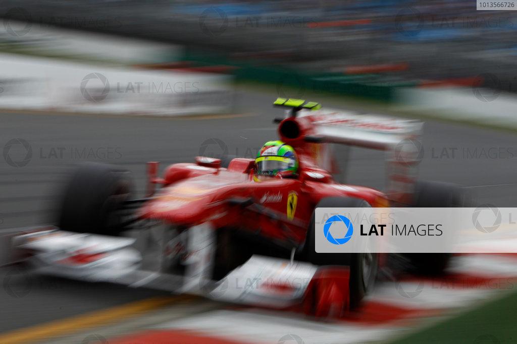 Albert Park, Melbourne, Australia 25th March 2011. Felipe Massa, Ferrari 150° Italia. Action.  World Copyright: Glenn Dunbar/LAT Photographic ref: Digital Image _G7C3484