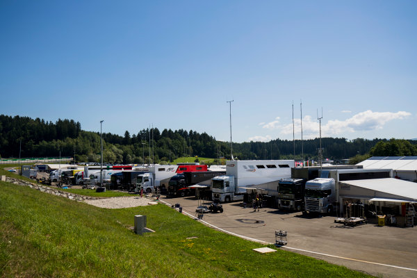 2017 GP3 Series Round 2.  Red Bull Ring, Spielberg, Austria. Thursday 6 July 2017. A view of the paddock. Photo: Zak Mauger/GP3 Series Media Service. ref: Digital Image _56I9970