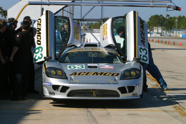 January 31-Feb. 3, 2005, SEBRING INTERNATIONAL RACEWAY SALEEN S7R OF TERRY BORCHELLER & JOHNNY MOWLEM-2005, GREG ALECK
