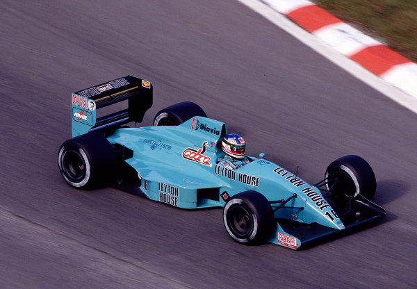 1988 Belgian Grand Prix.Spa-Francorchamps, Belgian.26-28 August 1988.Ivan Capelli (March 881 Judd) 3rd position.Ref-88 BEL 27.World Copyright - LAT Photographic