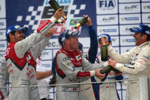2014 World Endurance Championship, Interlagos, Brazil. 28th - 30th November 2014. Tom Kristensen Audi Sport Team Joest Audi R18 e-tron quattro. World Copyright: Ebrey / LAT Photographic.