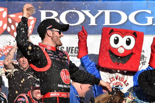 6-7 March, 2015, Las Vegas, Nevada USA Austin Dillon in victory lane ?2015, John Harrelson/LAT Photo USA