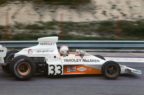 1974 Spanish Grand Prix.  Jarama, Madrid, Spain. 26-28th April 1974.  Mike Hailwood, McLaren M23 Ford.  Ref: 74ESP07. World Copyright: LAT Photographic