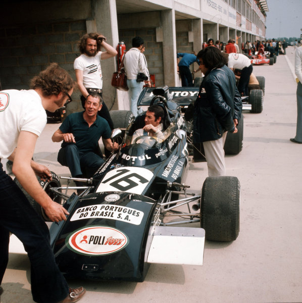 Nivelles-Baulers, Belgium.2-4 June 1972.Carlos Pace (March 711 Ford) 5th position.Ref-3/5054D.World Copyright - LAT Photographic