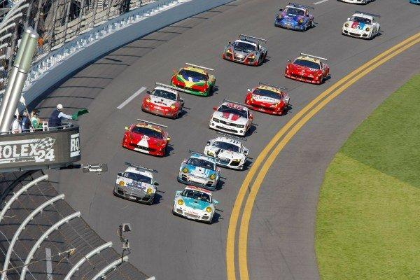 The GT field at the start of the race. Rolex 24 at Daytona, Daytona, USA, 24-27 January 2013.