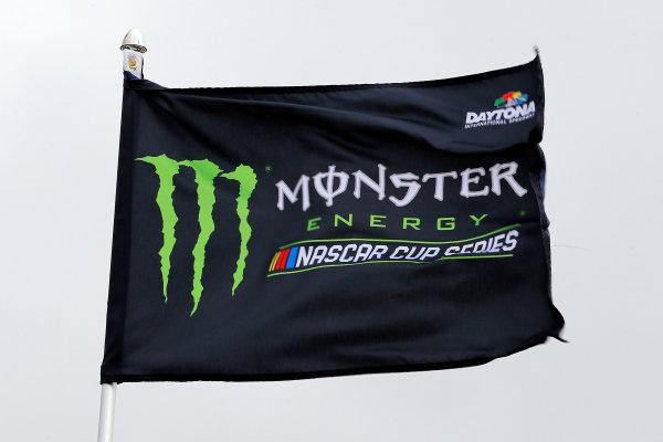 2017 NASCAR Monster Energy Cup - Can-Am Duels Daytona International Speedway, Daytona Beach, FL USA Thursday 23 February 2017 Monster Energy signage World Copyright: Russell LaBounty/LAT Images ref: Digital Image 17DAY2rl_00946