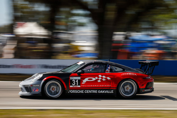 2017 Porsche GT3 Cup USA Sebring International Raceway, Sebring, FL USA Friday 17 March 2017 31, Michael de Quesada, GT3P, USA, 2017 Porsche 991 World Copyright: Jake Galstad/LAT Images ref: Digital Image lat-galstad-SIR-0317-14695
