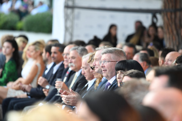 Monte Carlo, Monaco. Friday 26 May 2017. Chase Carey (USA) Chief Executive Officer and Executive Chairman of the Formula One Group, Sean Bratches (USA) Formula One Managing Director, Commercial Operations abd Ross Brawn (GBR) Formula One Managing Director of Motorsports at the Amber Lounge Fashion Show, Le Meridien Beach Plaza Hotel, Monaco World Copyright: Mark Sutton/Sutton/LAT Images ref: Digital Image dcd1727my409