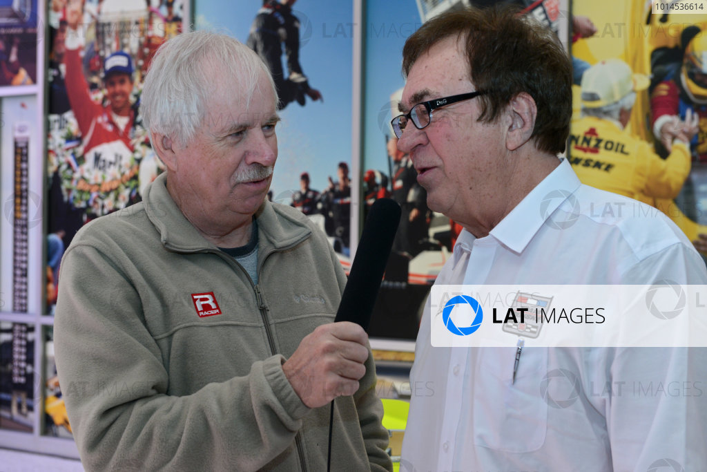 22 March,  2016, Indianapolis, Indiana USA Penske Indy 500 Sponsor Press Conference John Menard is interviewed ?2016 Walt Kuhn LAT Photo USA