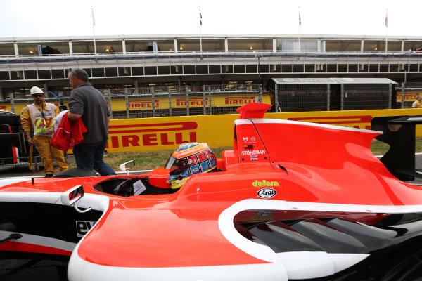 2014 GP3 Series Round 1 - Race 2. Circuit de Catalunya, Barcelona, Spain. Sunday 11 May 2014. Dean Stoneman (GBR, Marussia Manor Racing)  Photo: Malcolm Griffiths/GP3 Series Media Service. ref: Digital Image A50A3325