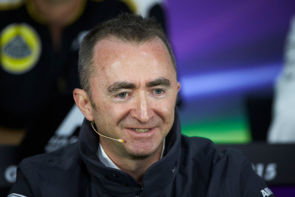 Circuit Gilles Villeneuve, Montreal, Canada. Friday 5 June 2015. Paddy Lowe, Executive Director (Technical), Mercedes AMG, in the Team Principals Press Conference. World Copyright: Steve Etherington/LAT Photographic. ref: Digital Image SNE29290