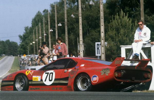 1982 Le Mans 24 hours. Le Mans, France. 19th - 20th June 1982. Pierre Dieudonne / Carson Baird / Jean-Paul Libert (Ferrari 512 BB), 6th position, action.  World Copyright: LAT Photographic. Ref: 82LM19.