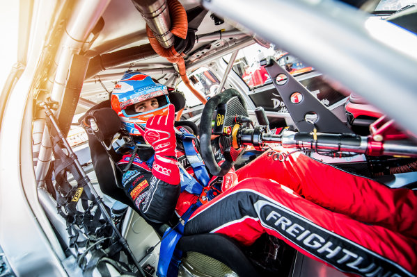 2016 V8 Supercar Championship Round 5.  Winton SuperSprint, Winton Raceway, Victoria, Australia. Friday 19th May to Sunday 21st May 2016. Ash Walsh co-driver of the #14 Freightliner Racing Holden Commodore VF. World Copyright: Daniel Kalisz/LAT Photographic Ref: Digital Image 200516_V8SCR5_WINTON_DKIMG_0191-Edit.JPG