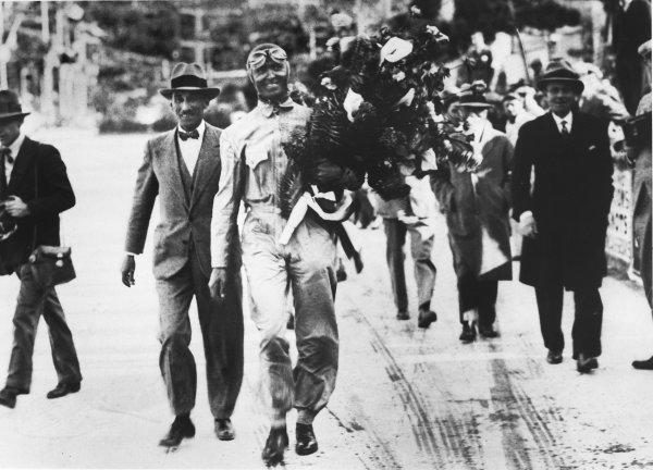 Monte Carlo, Monaco. 19th April 1931.Louis Chiron (Bugatti T51), 1st position with Antony Noghes, portrait.Ref: Autocar Used Pic 1st June 1962 P 889World Copyright: LAT Photographic