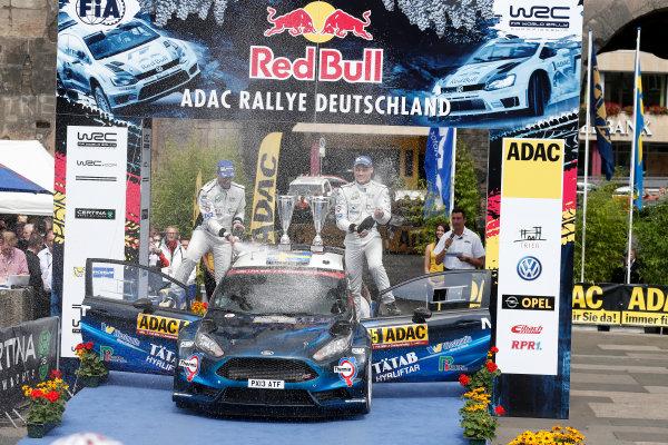 2014 World Rally Championship Rallye Deutschland 21-24 th August 2014 Pontus Tidemand, Ford WRC2, Podium Worldwide Copyright: McKlein/LAT
